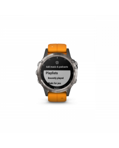 FENIX 5 PLUS SAPHIR Titan-Luenette mit QUICKFIT-Silikon-Armband 22mm Orange