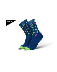 INCYLENCE Triathlonsocken Triangles Lime/Pink
